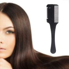Hair Razor Comb Black Handle Cutting Thinning Home Trimmer DIY Inside Blades