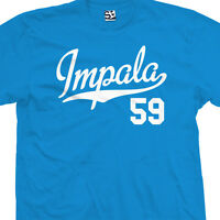 Impala 59 Script Tail T-Shirt - 1959 Lowrider Classic Tee - All Sizes & Colors