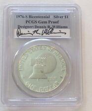 1976-S $1 Silver Eisenhower PCGS Gem Proof - Dennis Williams Signed