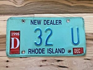 1998 Rhode Island New Dealer License Plate