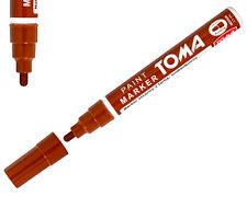 Brown permanente a base di olio penna per vernice auto bici gomma metallo Marker Impermeabile Nuovo