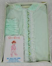 New Deadstock Vtg. 60s Cutler Cover Up Girls Pjs Pajamas Sleepwear Green Lace