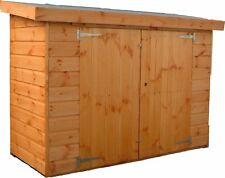 6FT X 3FT GLORY BOX (W) BALCONY STORE PENT SHED T&G HUT 6FT TALL