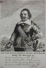 Michiel de Ruyter (1607-1676) , niederländischer Admiral Porträt Kupferstich