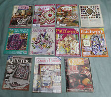 Bulk Lot Vintage Craft Magazines Quilting Patchwork Embroidery Doll Christmas