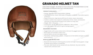 Royal Enfield  Granado vintage Leather Helmet Tan - Express Shipping