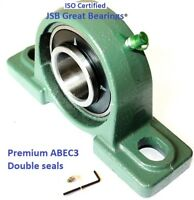 Premium UCP206-18 double seals ABEC3 Pillow block bearings 1-1/8 bore UCP206 18