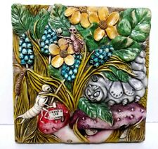 Harmony Kingdom Picturesque Cata'S Pillow 3D Magnet Tile Caterpillar bugs Flower
