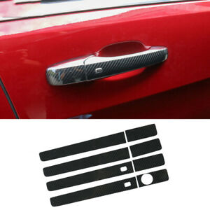 3D Carbon Fiber Door Handle Cover Trim Stickers For Jeep Grand Cherokee 2011-20