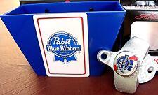 Pabst Blue Ribbon Beer Bottle Cap Opener & Playing Card / Cap Catcher PBR   NIB