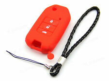 Red Silicone Case Cover For Honda Civic Accord Jade CRV City Flip Remote Key 3BT