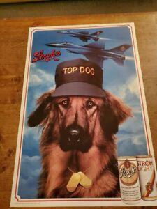 Vintage  Stroh's Beer Advertisement Poster 1988