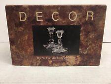 "Beautiful Vintage Lenox 5 1/2"" Lead Crystal Candlesticks (2) in Original Box"