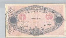 FRANCE 500 FRANCS BLEU ET ROSE 7 AVRIL 1927 J.1027 N° 25658512 PICK 66K