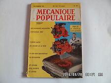 MECANIQUE POPULAIRE N°186 NOVEMBRE 1961 LA CHEVY II NOUVEAUTES AUTO 1962    J8