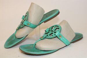 Tory Burch Womens 10 M Miller Leather Sandals Flip Flops Flats Shoes