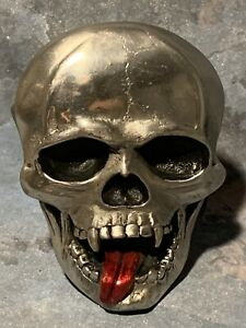 """SKULL Head Hitch Cover ~ Metal 3""""x5""""  ~ fits 2"""" Hitch Receivers"""