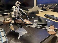 """Star Wars Black Series 6"""" Inch Speeder Bike Scout Trooper Loose"""