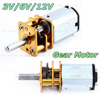 N20 DC 3V/6V/12V 50-2000RPM Speed Reduction Gear DC Motor with Metal Gearbox SG