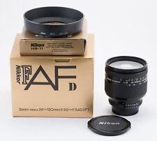 (25) Nikon AF NIKKOR 24-120mm f/3.5-5.6D IF lens w/caps hood box MINT