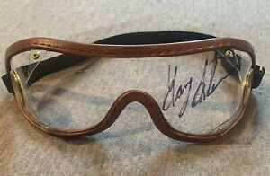 MIKE E. SMITH AUTOGRAPH AUTHETIC SIGNED HORSE RACING JOCKEY GOGGLES JUSTIFY
