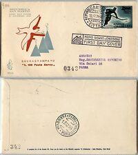 SAN MARINO-FDC 35/SM-100L soprastampato Posta Aerea 10.12.1956