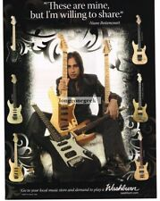 2007 WASHBURN  Electric Guitar NUNO BETTENCOURT Vtg Print Ad
