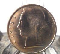 CIRCULATED 1972 5 FRANC BELGIUM COIN (20318)1.....FREE SHIPPING!!!!!