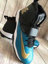 Nike Flywire Men's Lineman 3/4 TD Football Cleats Blue Black 618167-015 Size 16