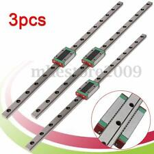 3Pcs MGN12 12mm Linear Rail Guide Slide MGN12 400mm Length + Mini MGN12H Block