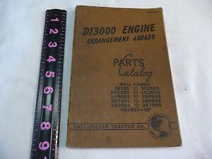Caterpillar Tractor Loader D13000 Engine  Arrangement  Parts Catalog