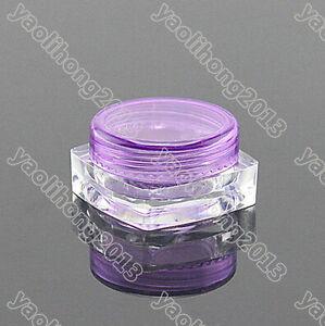 100PC 3ml Cosmetic Empty Jar Pots Eyeshadow Makeup Face Cream Lip Balm Container