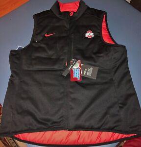 NWT Nike Ohio State Buckeyes OSU Women's Full-Zip Reversible Puffer Vest Size XL