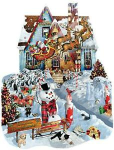 SunsOut Jigsaw Puzzle; Christmas at our House; shaped; 1,000 pcs #95539