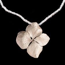 Hydrangea Pendant on Pearls - Michael Michaud - Silver Seasons Jewelry