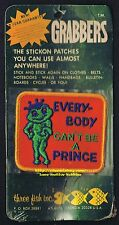 LMH PATCH Badge  EVERYBODY CAN'T BE A PRINCE  Love Kiss SEXY FROG  1972