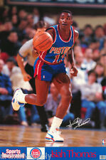 POSTER: NBA BASKETBALL:  ISIAH THOMAS - PISTONS 1990 - FREE SHIP  #7439   RP93 i
