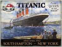 White Star Line Titanic Queen of the Ocean Large Metal Sign