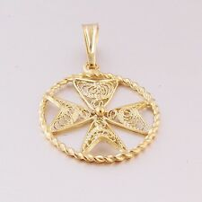 FILGREE Hallmarked Jewellery MALTESE CROSS 9ct 9k Gold Pendant Handcrafted Malta