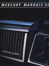 1983 Mercury Marquis 14-page Original Dealer Sales Brochure Catalog