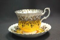 Royal Albert Regal Series Yellow White Tea Cup & Saucer Set