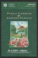 Canada BK130b: 40c Gardens booklet of 10, open, Tab Inscription, Scott 1315b, NH