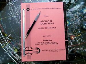 Apollo 11 Flight Plan Book - Rare Unbound Limited Edition - Kickstarter - NASA
