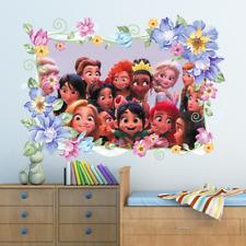Disney Princess Flower Wall Sticker Art Decal Kids Bedroom Decoration