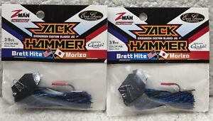 (2) Z-Man Jack Hammer 3/8oz Black/Blue Brand New A88