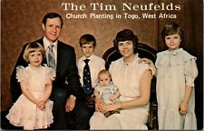 Vintage Postcard The Tim Neufelds Family Church planting Togo West Africa Unused