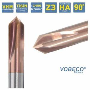 VHM Fasenfräser Entgrater 90°  4,6,8,10,12 mm  Z4  TiALN Beschichtung TOP VOBECO