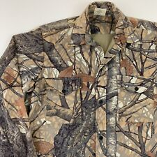 WestArk Mens Hunting Shirt M Skyline Camo Saddle Cloth Long Sleeve Button Flaws
