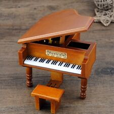 WOOD PIANO WIND UP MUSIC BOX :CANON IN D