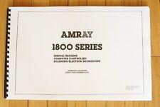 Amray 1800 Series Sem Schematics Service Manual 118 163 Scanning Electron